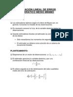 Estimacion Lineal EXCEL