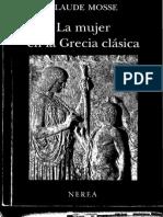 Claude Mosse La Mujer en La Grecia Clasica