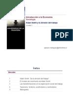 IE Unidad 1 Adam Smith y La Division Del Trabajo