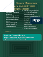 Ch01 Strategic Management and Strategic Competitiveness – major concepts
