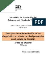 Multigrado.-guía Para La Implementación de Un Diagnóstico en Preescolar