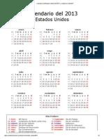 Calendario de Estados Unidos Del 2013