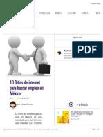 10 Sitios de internet para buscar empleo en México