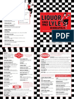 LiquorLyle's Food Menu 2015