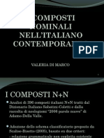 i Composti Nominali Nell-italiano Contemporaneo