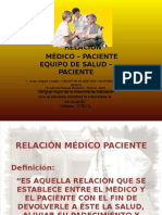RELACIÓN MÉDICO PACIENTE.ppt