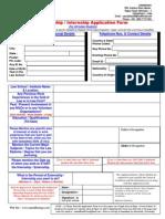 Application Form for Internship-2014