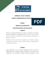 Proyecto Direccion Estrategia Emp Alfa & Omega tienda de celulares