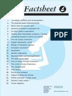 Biology Factsheet Index 1-309