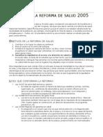 3. Leyes de La Reforma de Salud 2005 Dr.badenier 04.06.15