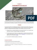 HUNDIMIENTO geologico