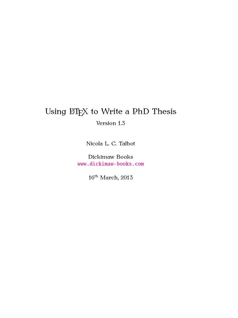 Caltech phd thesis latex