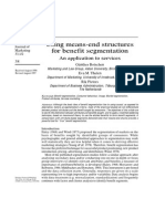 Botschen Thelen Pieters - Using Means-End Structures for Benefit Segmentation