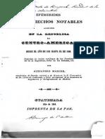 Alejandro Marure Efemerides de Los Hechos Notables Acaecidos en La Republica de CA Desde 1821 Hasta 1848