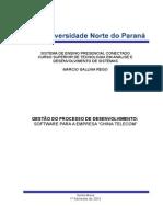 GESTÃO DO PROCESSO DE DESENVOLVIMENTO