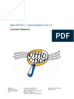 Data ONTAPv Administration Tool 13 Command