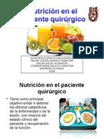 Nutrición en El Paciente Quirurgico Y sus cuidados