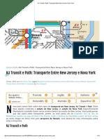 NJ Transit e Path_ Transporte Entre New Jersey e Nova York