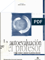 Autoevaluación profesor - J. Nieto