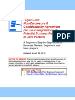 NDA (Negotiations of Potential Business Relationship or Joint Venture) - Legal Guide
