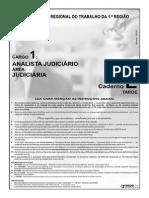 Cespe 2008 Trt 1 Regiao Rj Analista Judiciario Area Judiciaria Prova Email