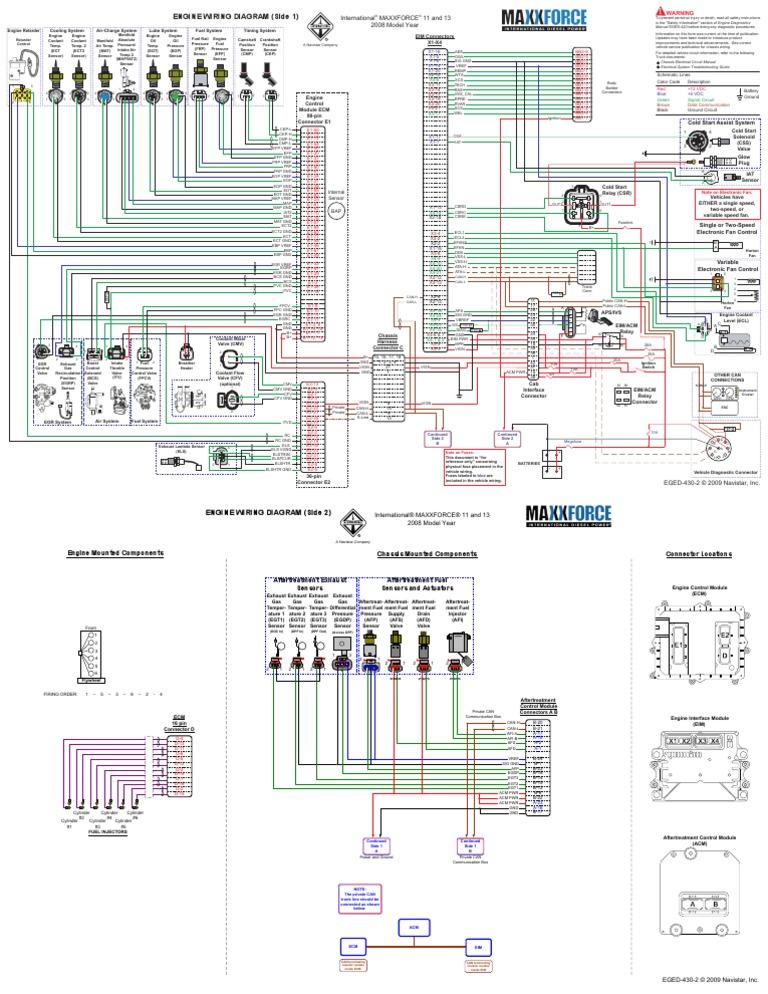 maxxforce 11 y 13 propulsion systems engineering rh es scribd com maxxforce 13 wiring diagram maxxforce 13 wiring diagram