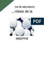 síntesis de aspirina