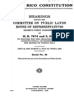 Hearings to Proivied for a Constitutional Government in Puerto Rico 1949-1950