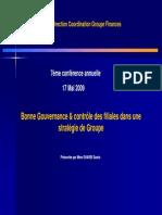 5- Bonne Gouvernance Et Contrôle Des Filiales Dans Une Strategie de Groupe GHARBI