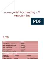 Cost Accounting Problem