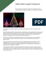 A¿Que tu Navidad Pintar Arbol es seguro? 9 maneras te puedes perder hoy