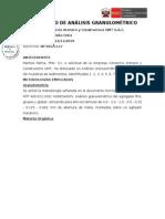 Certificado de Análisis Granulométrico La Molina