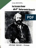 L'Organizzazione Dell'Internazionale - Mikhail Bakunin (1872)