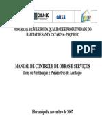 Manual de Controle de Obras e Servicos