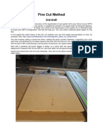 five cut method to square table saw