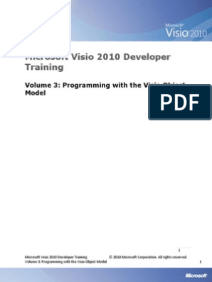 Visio 2010 Developer Training 03 - Programming With the