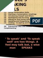 Module 3 Speaking Skills