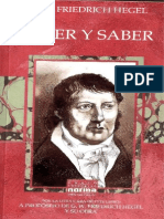 Hegel Creer y Saber