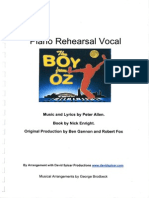 The Boy From Oz - Piano Rehearsal Vocal