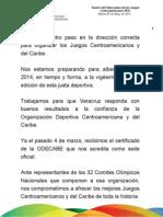 03 05 2011 Sesión del Fideicomiso de los Juegos Centroamericanos 2014