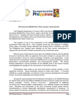 Press Release_PH Hosts the ASEAN Plus Three Tourism Youth Summit 16 Oct 2015