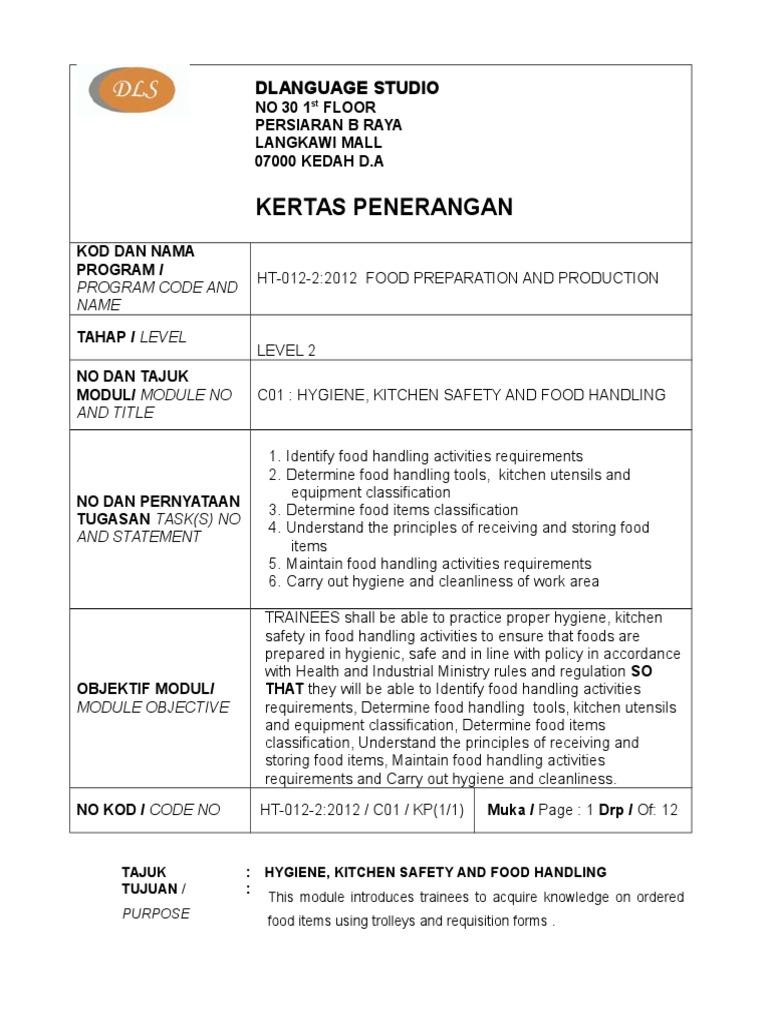 c01 p Hygiene, Safety and Food Handling | Hygiene | Foods
