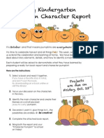 my pumpkin book report