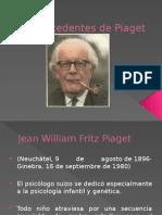 Antecedentes de Piaget