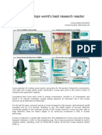 Korea Develops World's Best Research Reactor