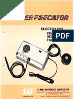 Manual Suprefrecator Electrocauterio