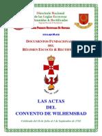 Actas Del Convento de Wilhemsbad