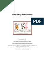 k 4 Word Family Ladders