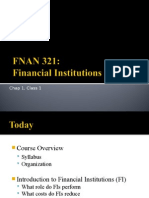 Why Are Financial Institutions Special