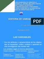 Seminario II. Sistema de Variables 4ta Clase